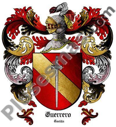 Escudo Del Apellido Guerrero Escudo De Armas Apellidos Escudo Escudo Nobiliario