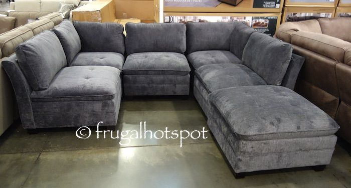 6 Piece Modular Fabric Sectional. #Costco #FrugalHotspot