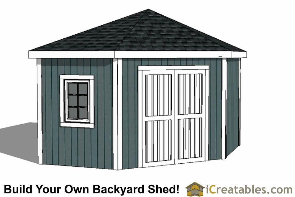 12x12 5 Sided Corner Shed Plans In 2020 Corner Sheds Storage Building Plans Shed