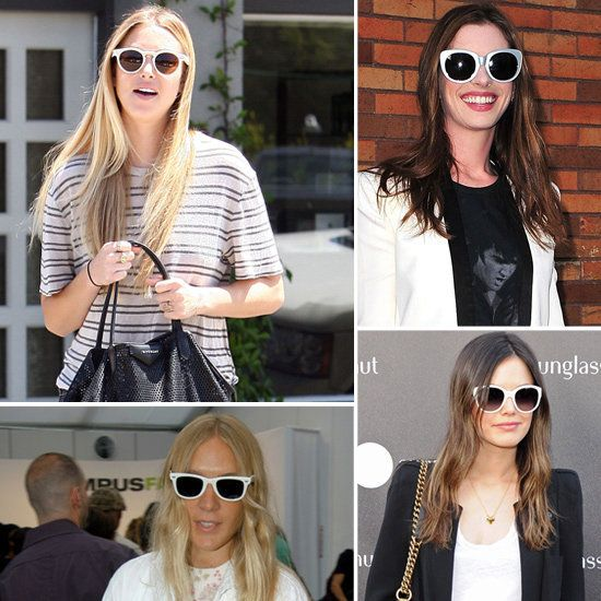 white sunglasses  Female celebrities in white sunglasses. Who wears it best ...