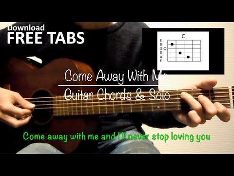 Come Away With Me (Norah Jones) - Guitar Chords and Solo / Takashi ...