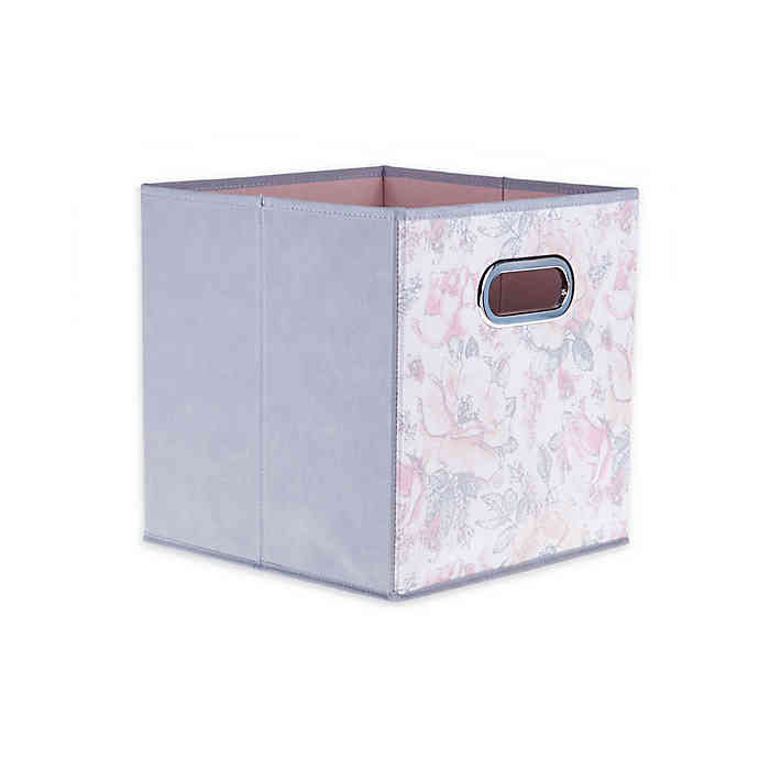 Relaxed Living Painted Garden 11 Inch Square Collapsible Storage Bin Collapsible Storage Bins Storage Bin Fabric Storage Bins