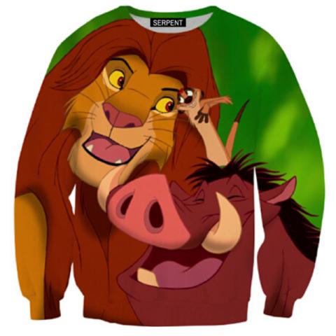Pumbaa Sweatshirt Lion King Hakuna Matata Lion King Lion King Simba