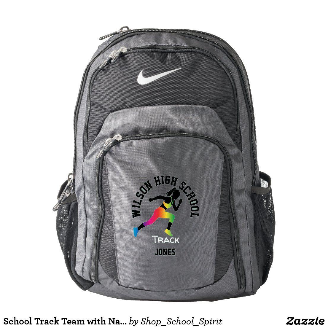 School Track Team with Names Nike School Spirit Backpack