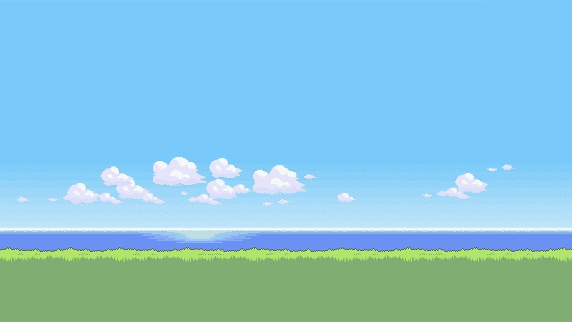 1920x1080 Sample In 2020 Pixel Art Desktop Wallpapers Backgrounds Landscape