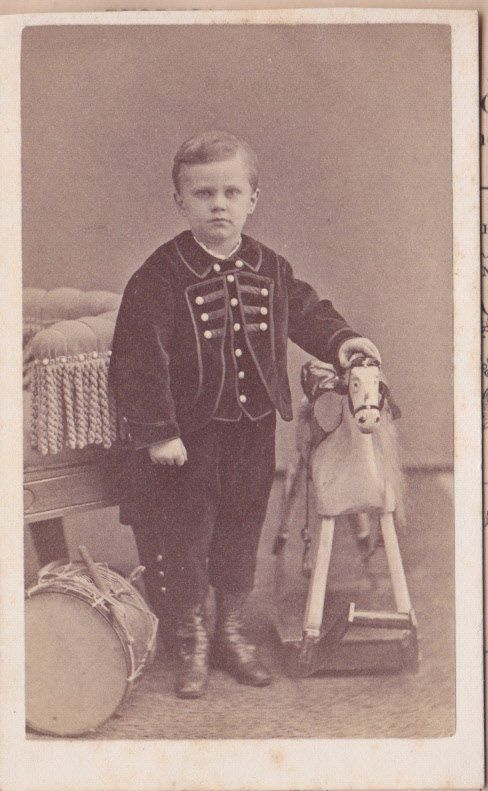 Victorian Carte de Visite of Boy with Drum by NorthCountryVintage, $11.95