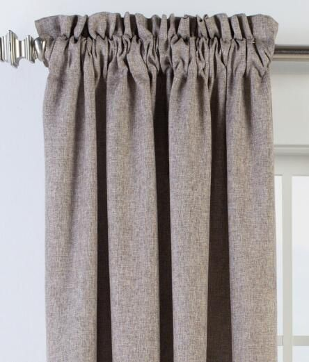 Soft Tweed Lined Rod Pocket Curtains Pair 59 95 89 95 Rod