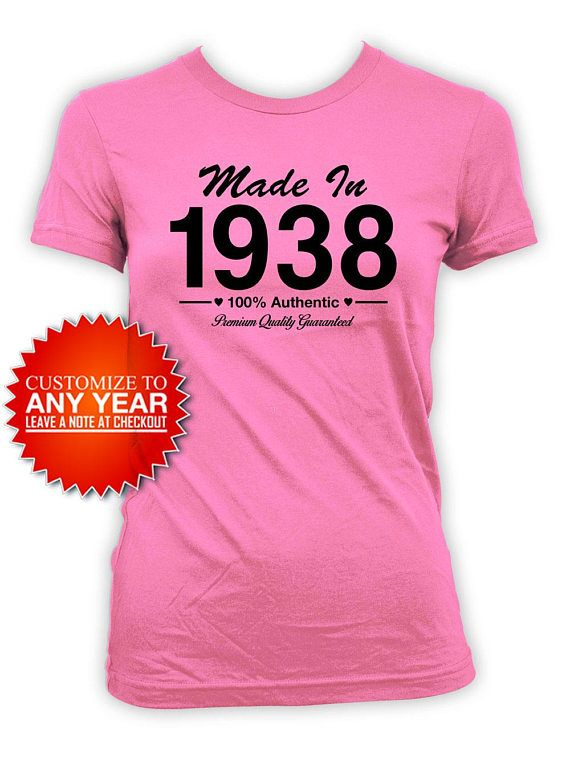 80th Birthday Shirt Bday Gift Ideas For Her Custom T Outfit Year Made