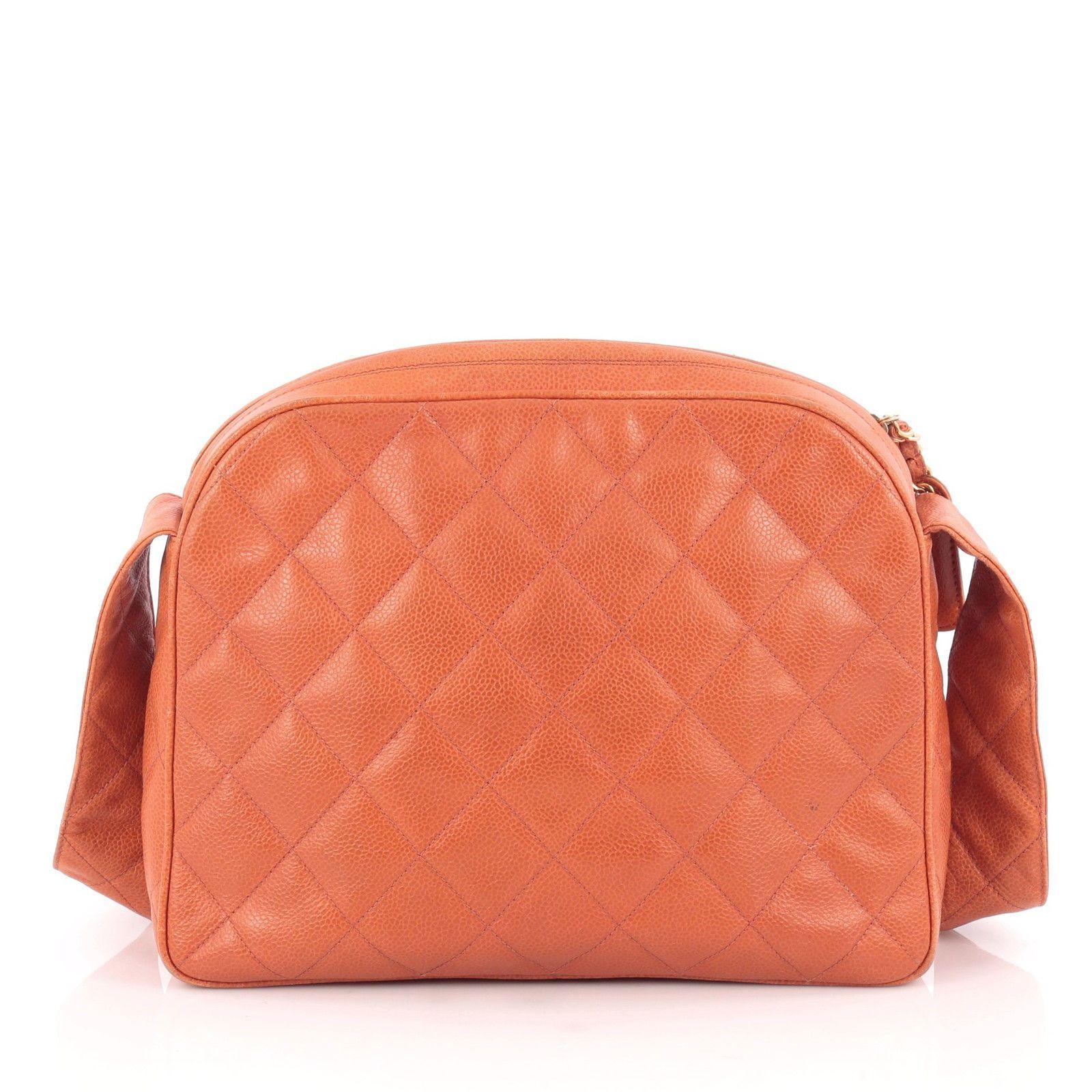 Chanel handbag superb vintage chanel bag vintage leather - Chanel Vintage Camera Bag Quilted Caviar Medium 650 0