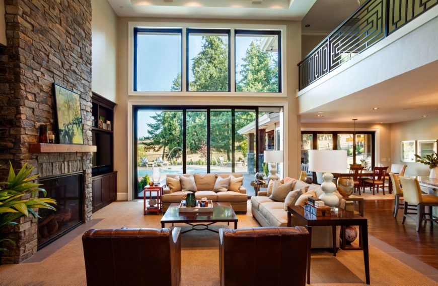 Stately Contemporary Rustic Interior Design Home by Garrison Hullinger images