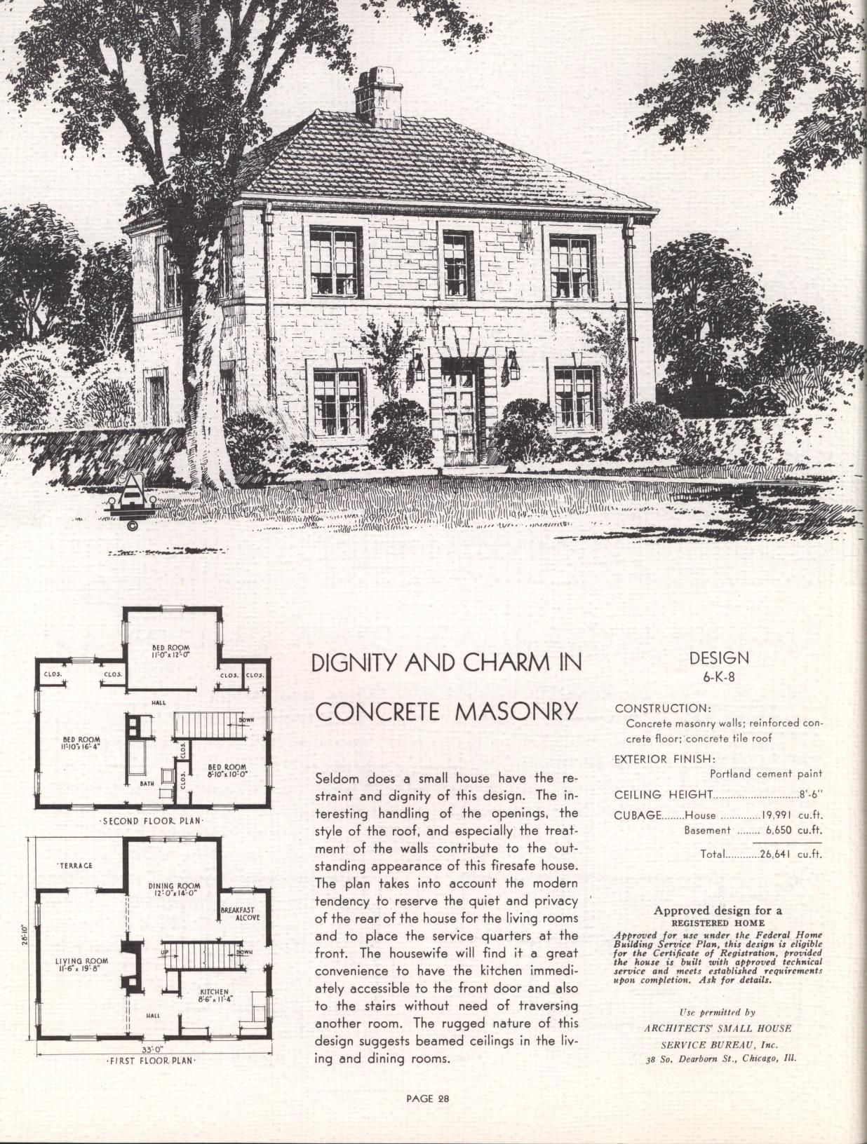 1909 Radford Cement Homes No 8254 House Plans Tiny House Floor Plans Vintage House Plans