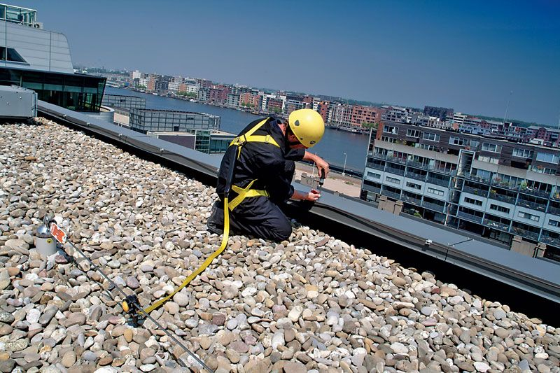 Rooftop Fall Protection. Flexible Lifeline Rooftop Fall