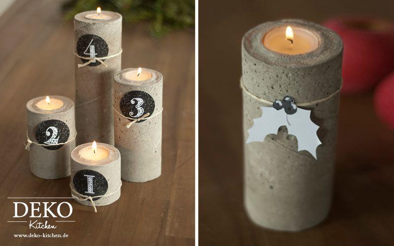 d5b997062c93a0 DIY stylischer Adventskranz aus Beton Deko-Kitchen   Concrete   Deko ...