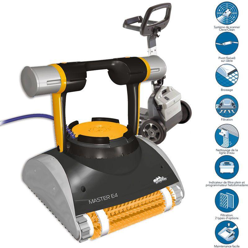 Robot De Piscine Electrique Master E4 Chariot Dolphin
