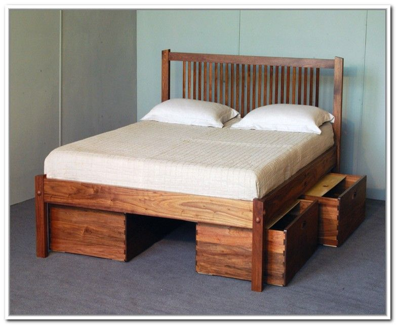 Diy queen storage bed frame best storage ideas website - Best platform beds with storage ...