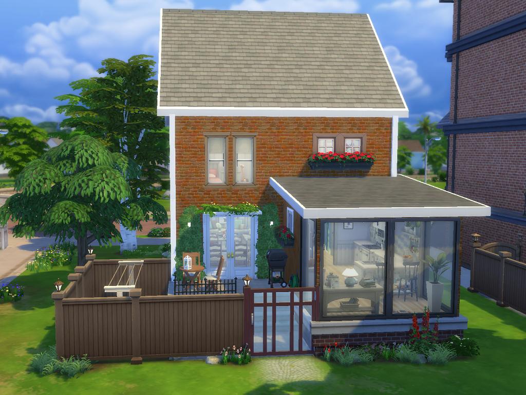 Sims 4 Maisons Newcrest Sims 4 Maisons Newcrest 1 Choisir Meubles Qui Est P Sims 4 Maison Maison Sims Maison Terrasse Victorienne