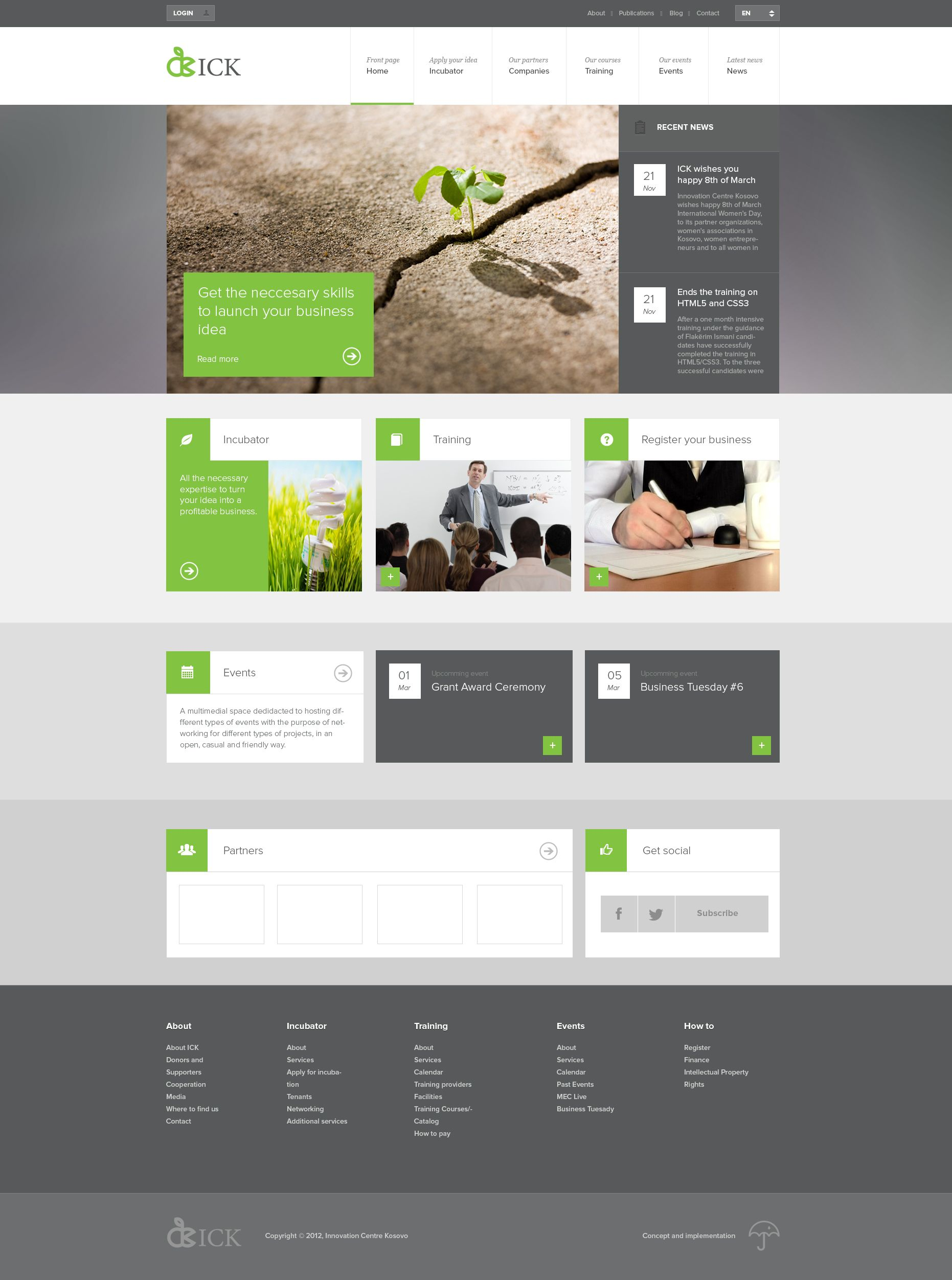 Tiled Layout Website Layout