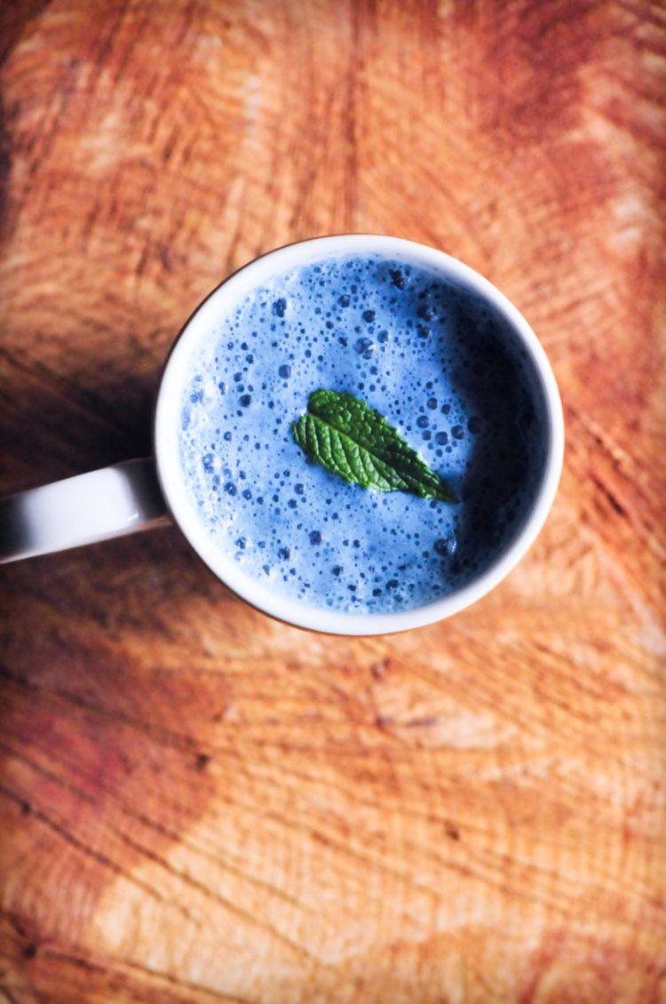 Double Blue Peppermint Moon Milk (Vegan & GlutenFree