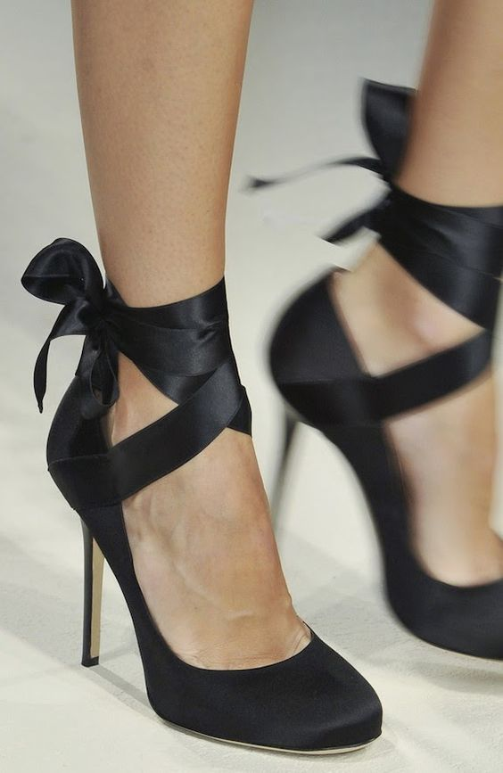 682303f1a2e These black lace up heels look like a grown up ballet shoe, gorgeous ...