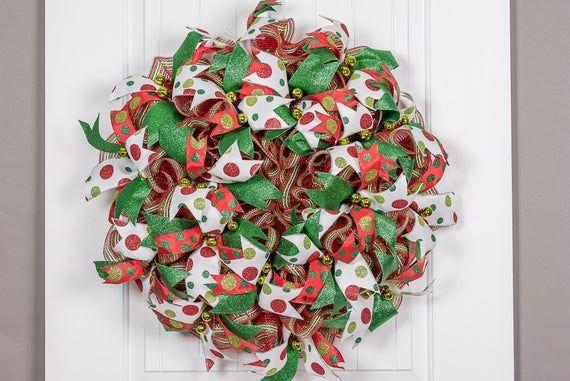 Double Door Christmas Wreaths, Double Door Wreaths, Front Door, Christmas Decor, Simple Wreath, Holi #doubledoorwreaths