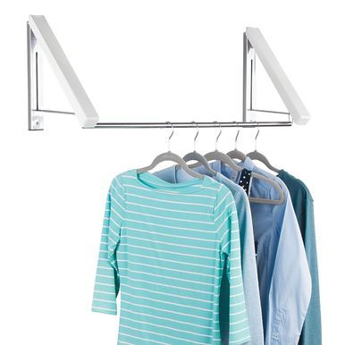 Mdesign Expandable Wall Mount Laundry Clothes Drying Rack