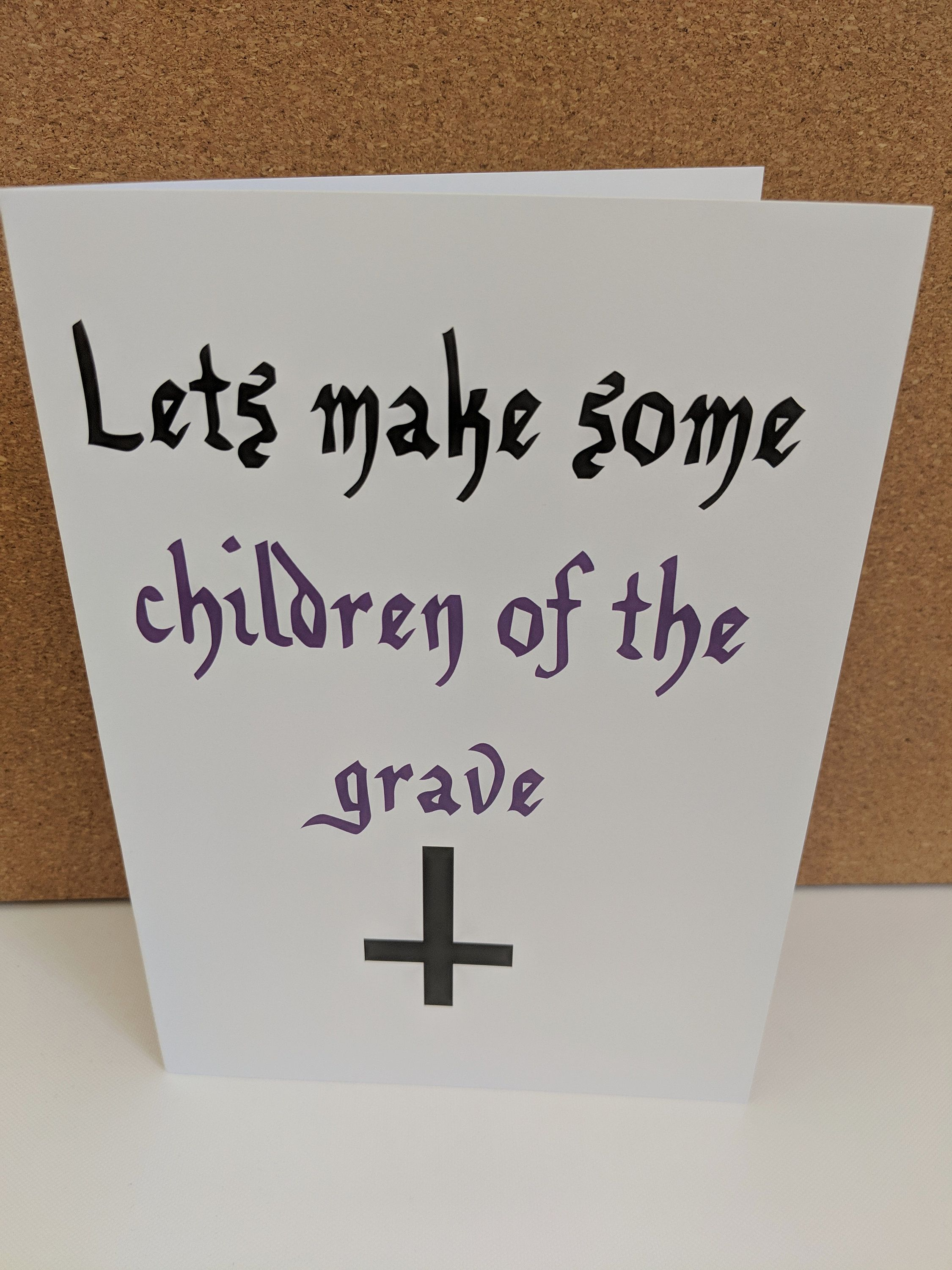 Items similar to Lets make some Children of the Grave