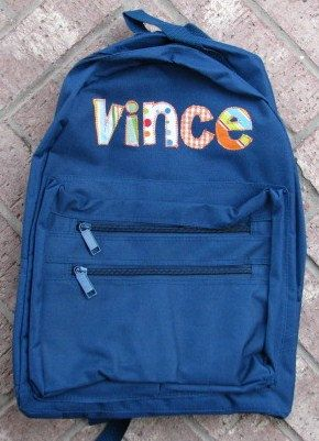 Personalized Applique Backpack