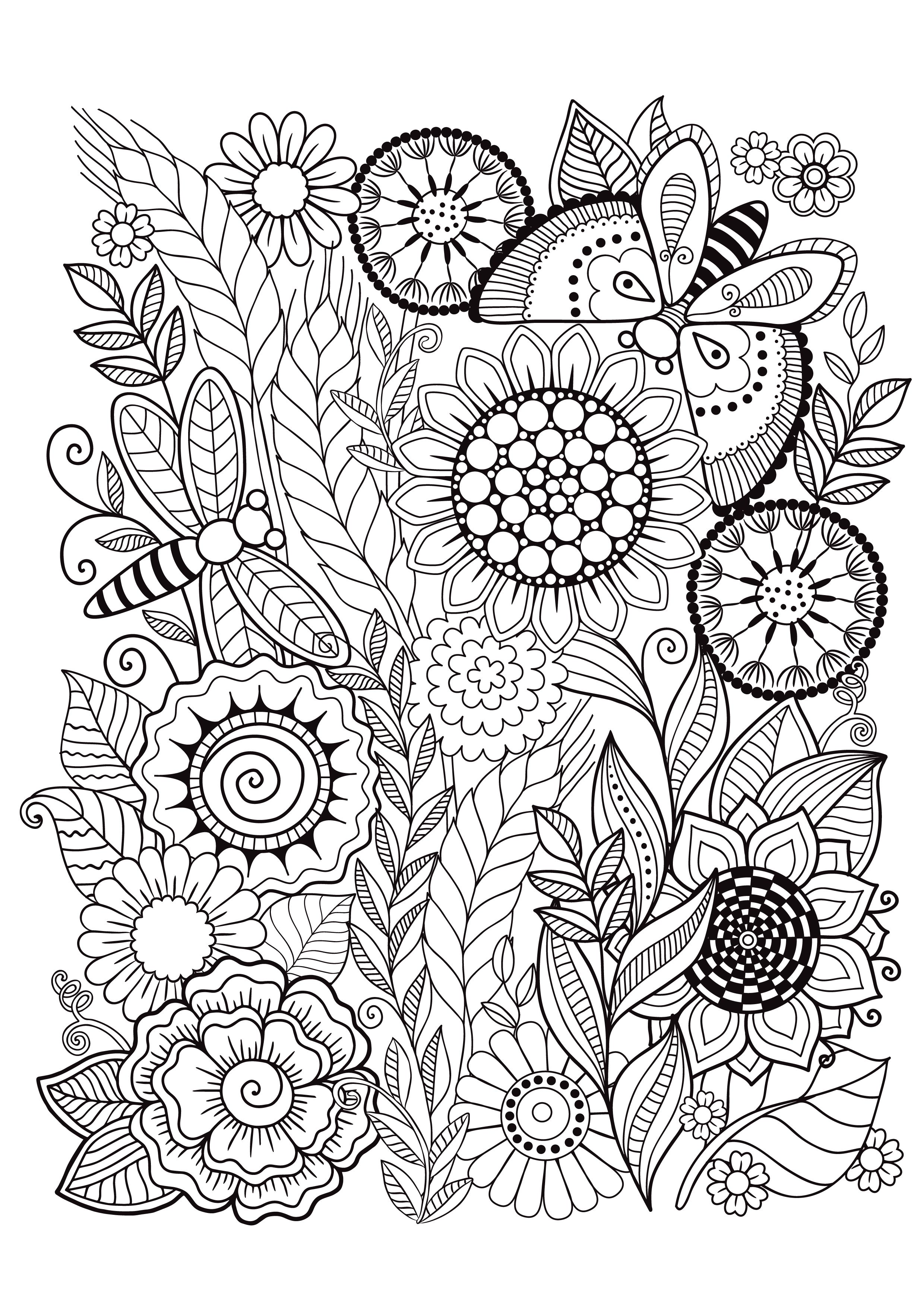 - Mindfulness Coloring Pages - 12 Flowers Mindfulness Colouring