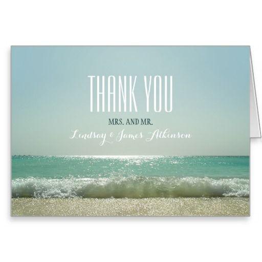Beach Wedding Thank You Cards Zazzle