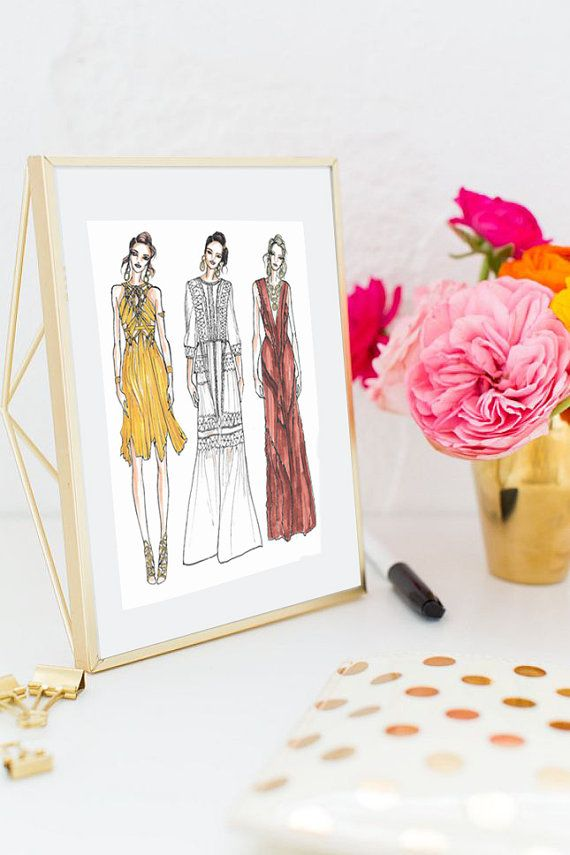 Please read the below before purchasing:  *DOES NOT COME FRAMED* - Please message me to purchase print framed  Title: Alberta Ferretti Runway