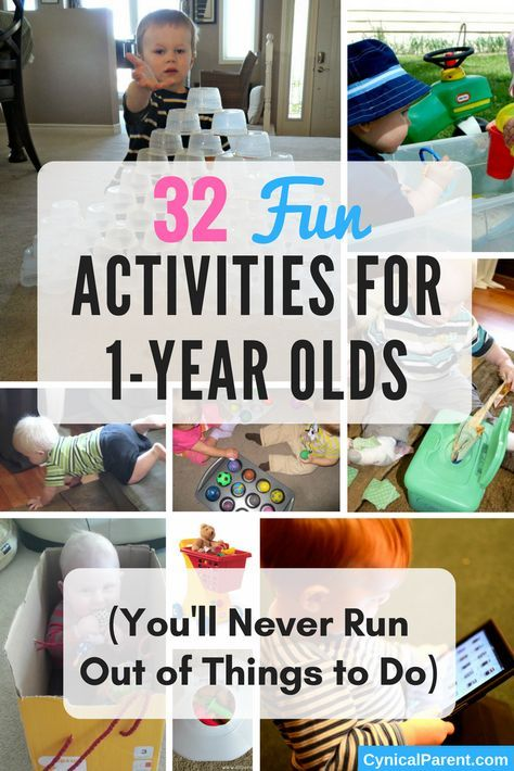 32 Fun Activities For 1 Year Olds You Ll Never Run Out Of Things To Do Cynical Parent Activities For 1 Year Olds Activities For One Year Olds Infant Activities