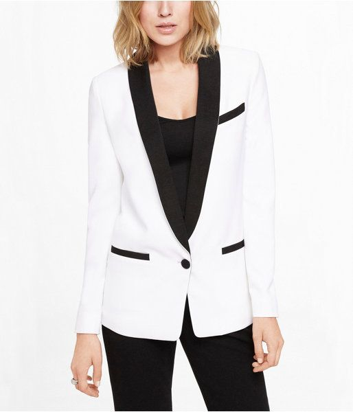 755adebe0495 Express White Tuxedo Jacket on shopstyle.com | Women.in.Suits ...