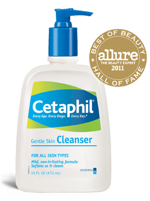 Gentle Skin Cleanser - Cetaphil  Stop over-working your skin. Most products are filled with too many chemicals that weigh your skin down. Stop working your skin, treat it! Use Cetaphil.