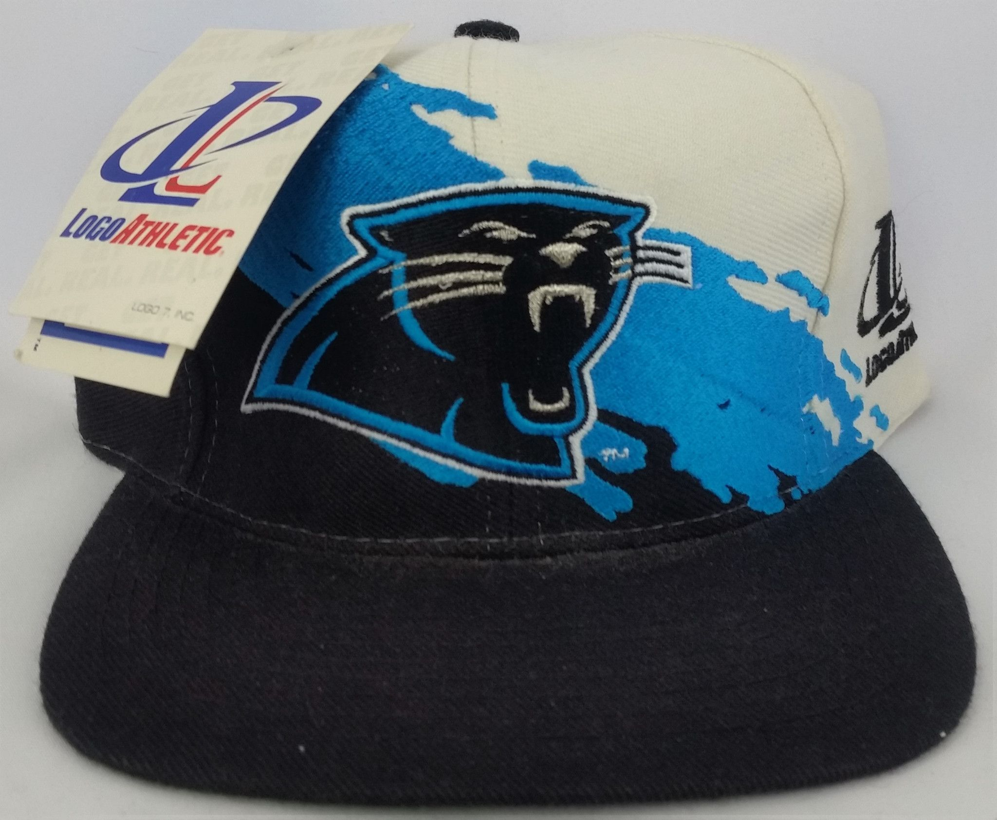 df7d4d53914 Carolina Panthers Vintage Snapback Logo Athletic Splash Hat NFL Pro Line  Cap NWT