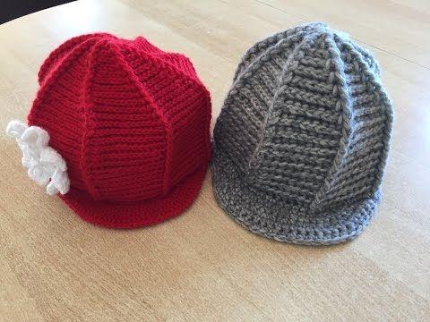 Tuto bonnet, casquette avec visière au crochet - YouTube   Tricot ... afdd82852c4