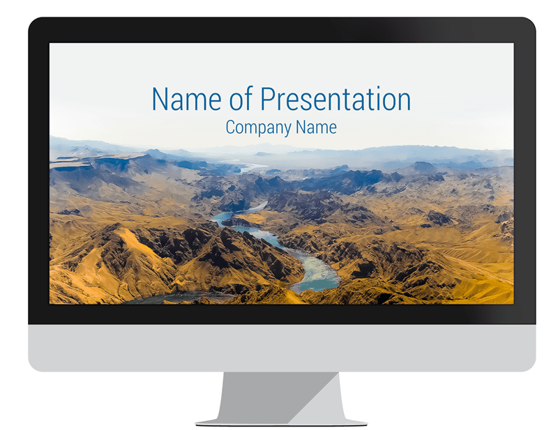 Mountain Landscape PowerPoint Template | Mountain landscape