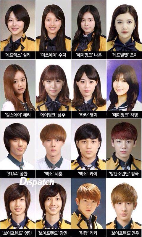 Sopa S Star Page Put Up Idols Graduation Pictures Aktris Gadis Korea Selebritas