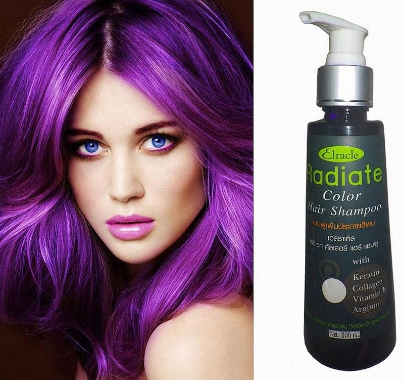 Hair Color Cream Dye Shampoo Semi Permanent Punk Goth Bright Violet