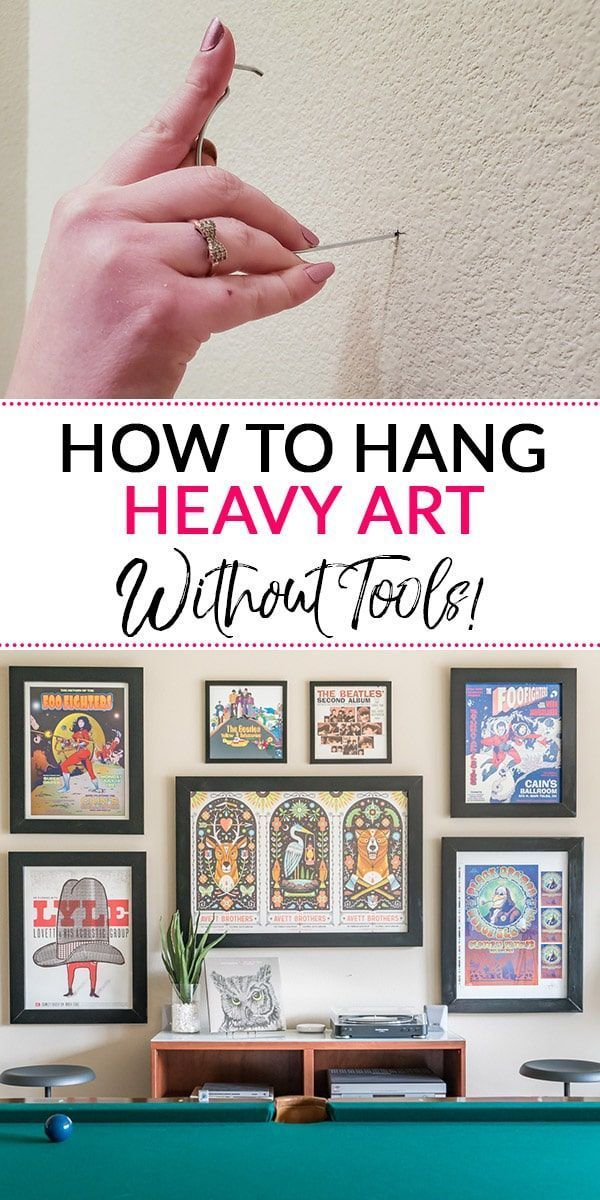 Hanging Heavy Pictures : hanging, heavy, pictures, Obsessed, Simple, Solution, Hanging, Heavy, Pictures,, Mirrors, Drywall, Without, Needi…, Rustic