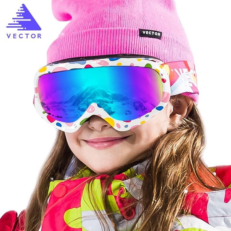Childrens Ski Goggles Double Lens UV400 AntiFog Skiing
