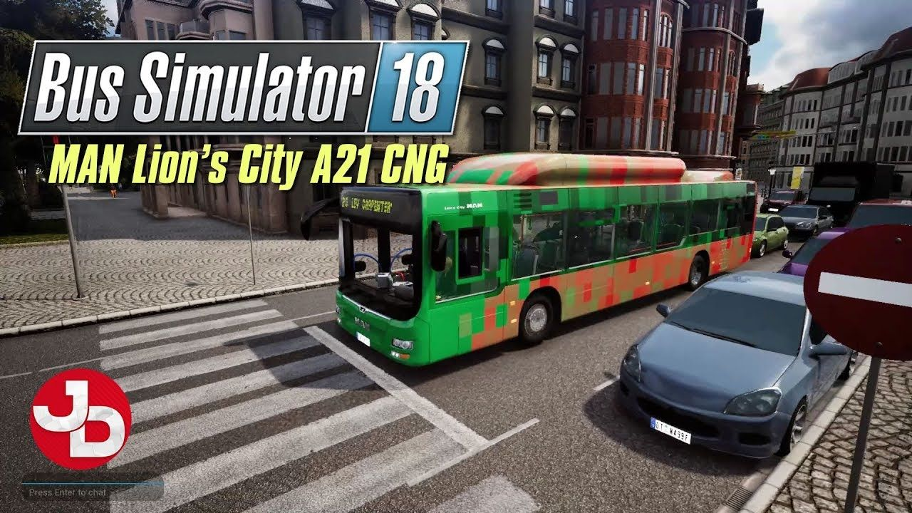 Bus Simulator 18 MAN Lion's City A21 CNG pc gameplay 1080p