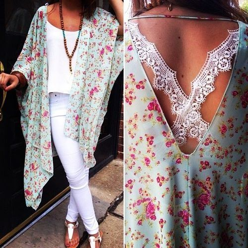Floral and a kimono my two fav things ✝