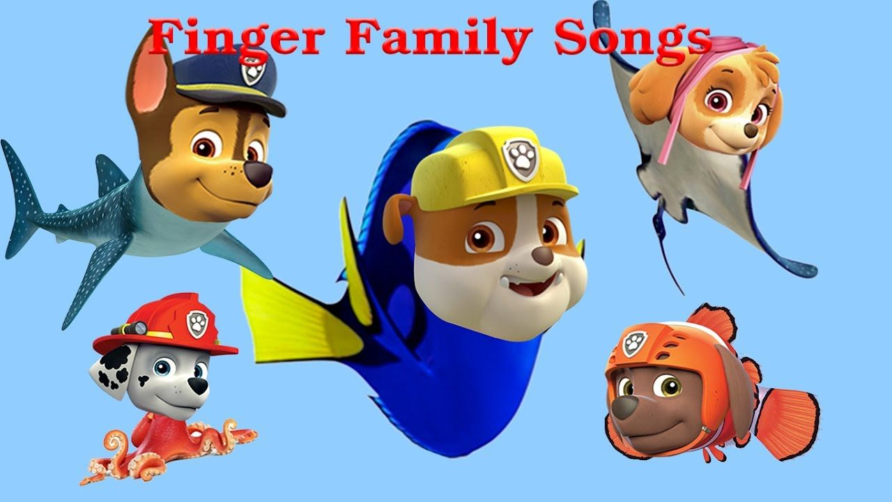 Paw Patrol Finger Family Nursery Rhymes