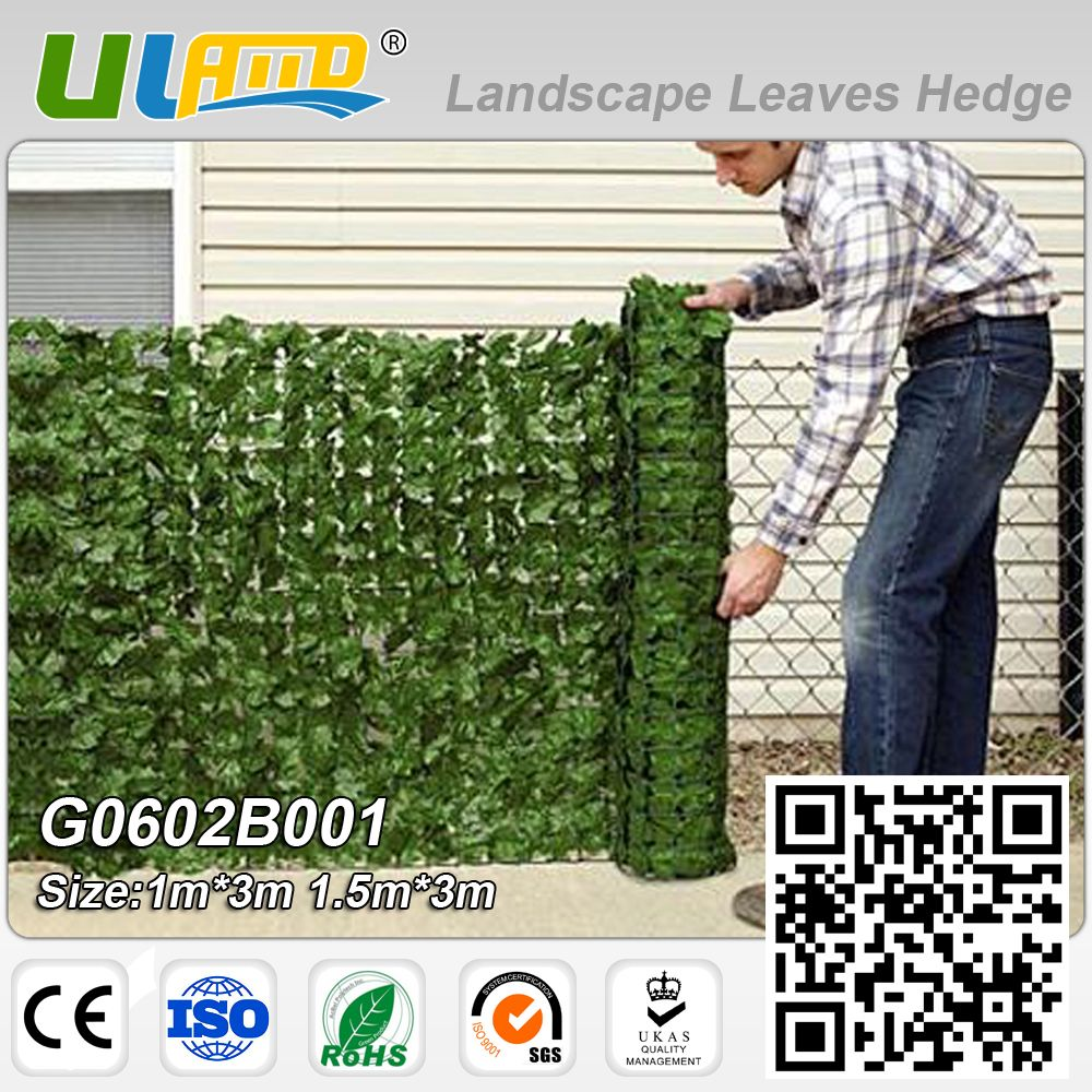 1mx3m Artificial Privacy Plants Fence Plastic Garden Fence