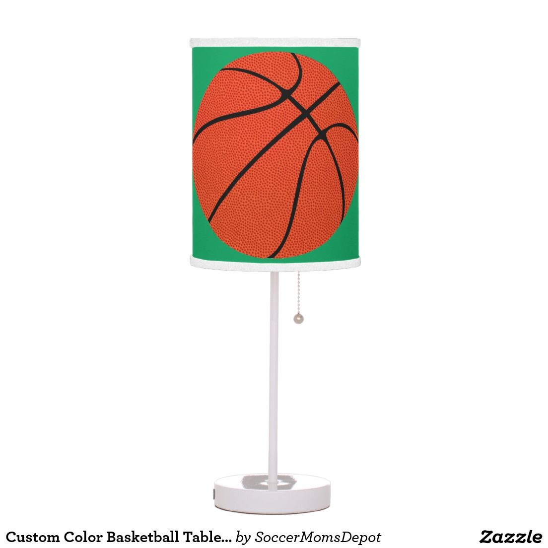 Custom Color Basketball Player or Coach Table Lamp