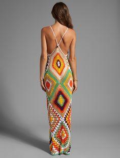 beautiful long crochet dress