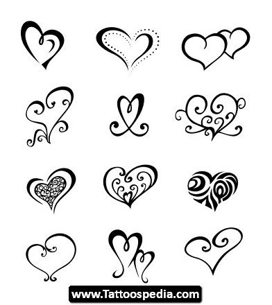 Open Heart Tattoo Pictures 05 Simple Heart Tattoos