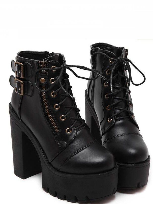 300c0ec0836 Fashion White Silver Boots Women Punk Boot Shoes Woman 2018 Spring Super  Cool Ankle Boots For Women Bota Feminina Zapatos Mujer | Shoes - Booties |  Shoe ...