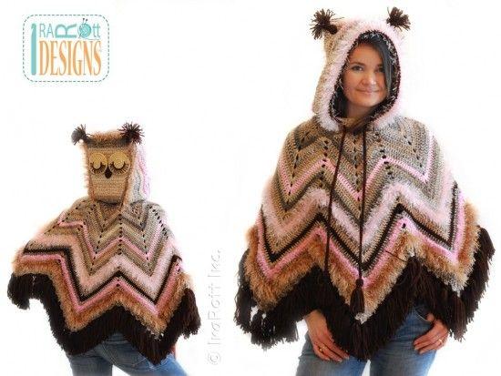 Crochet Owl Poncho Pattern All The Best Diy Ideas Ponchos Crochet