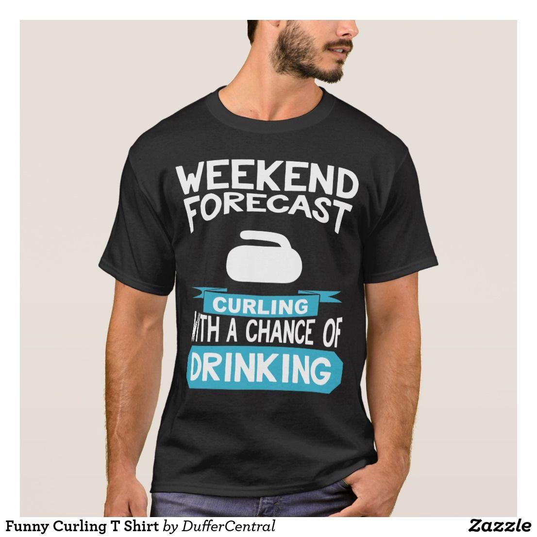 2e2e581b5 Funny Curling T Shirt | Zazzle.com | Curling | Sweater design ...